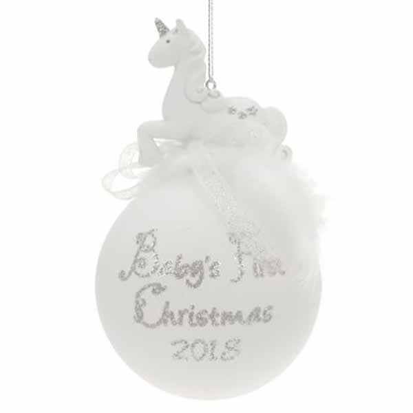 joulun sisustus 2018 Joulupallo Baby's first christmas 2018 Yksisarvinen   Joulun  joulun sisustus 2018