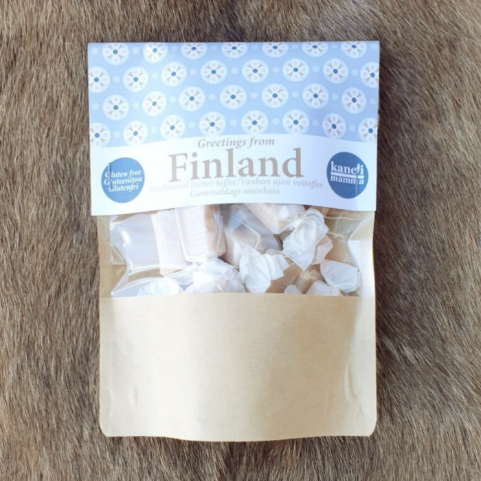 Vanhan ajan toffee Greetings from Finland 150g