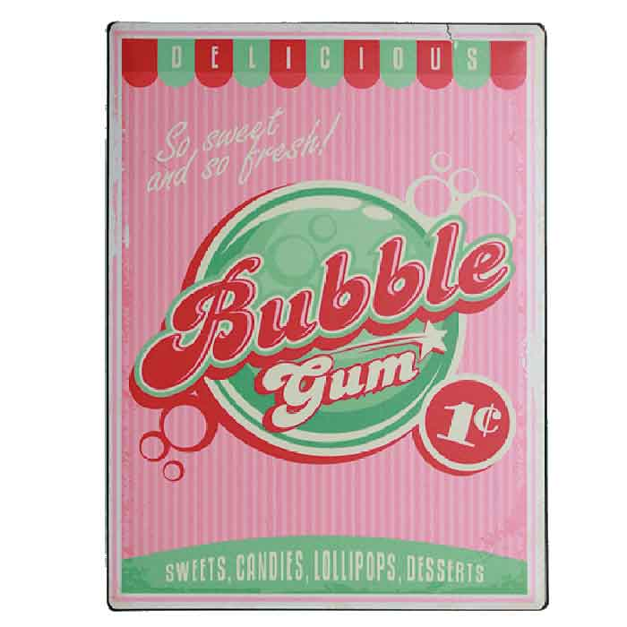 Metallikyltti Bubble Gum