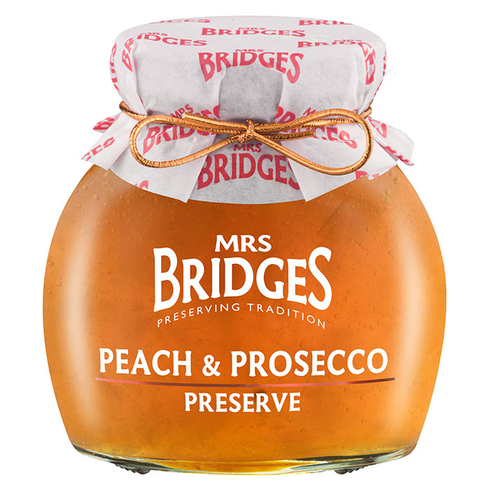 Hillo Persikka Prosecco Mrs Bridges 340g