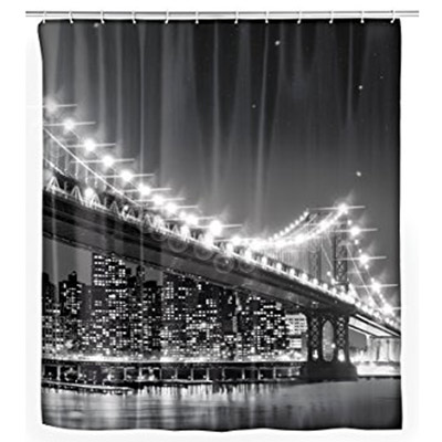 Suihkuverho Brooklyn Bridge LED-valoilla
