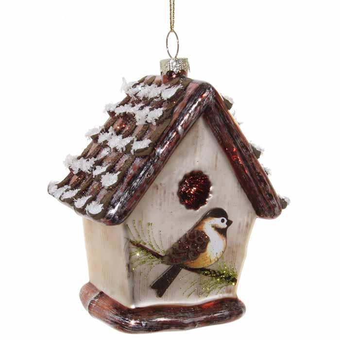 Christmas Birdhouses.Christmas Decoration Birdhouse 10 Cm Christmas Christmas