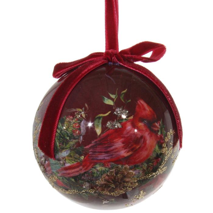 Christmas decoration ball burgundy - CHRISTMAS - Christmas tree decorations - Home By Piia