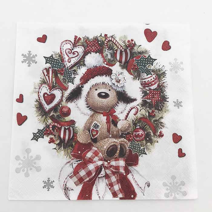 greengate joulu 2018 Napkin Christmas Dog   Napkins   Christmas napkins   Home By Piia greengate joulu 2018