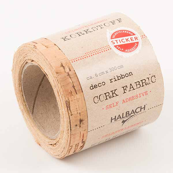 Cork fabric sticker structured 0,06x3 m - OUTLET - Home By Piia