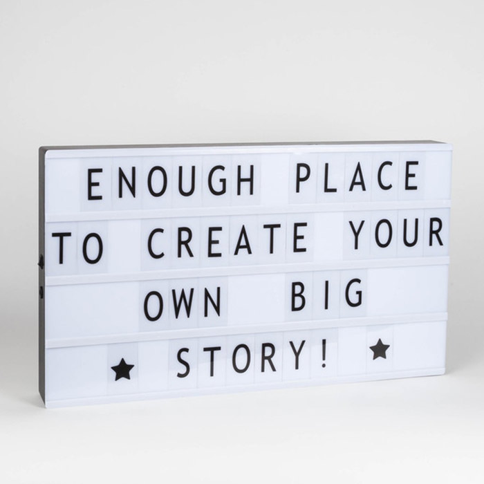 Light box with letters A3 USB - Metal signs and pictures - Home By Piia