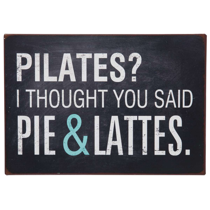 Metallikyltti Pilates