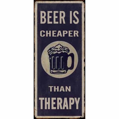 Metallikyltti Beer is cheaper