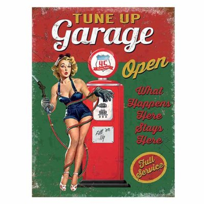 Metallikyltti Tune Up Garage