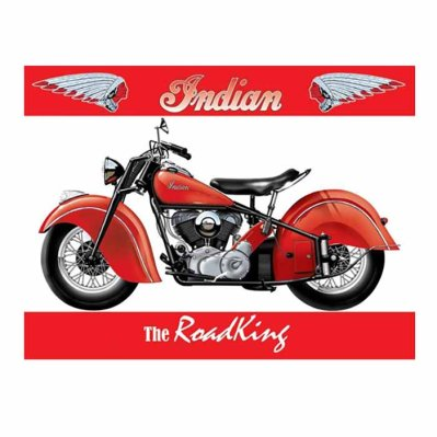 Metallikyltti Indian RoadKing