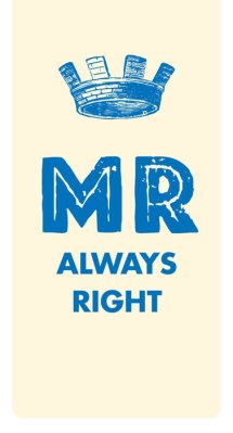 Kirjanmerkki MR always right